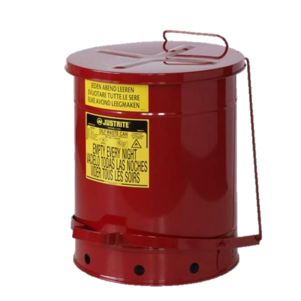Waste safety cans for flammable solids