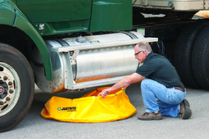 Mobile spill sump with pop-up system