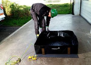 Mobile spill containment sump-Spill sump-Foldable spill sump