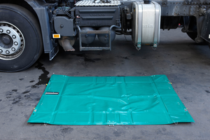 Mobile spill containment sump-Foldable spill sump