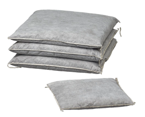 Absorbent pillows with CorkSorb oil absorbent