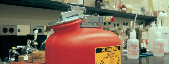 Waste safety cans for flammable liquids