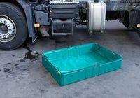 Spill containment sump-Foldable spill sump