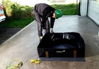 Collapsible sump-Mobile spill sump, conductive
