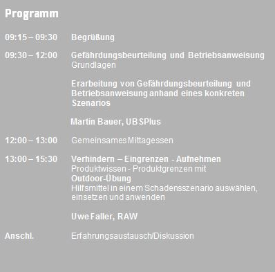 Programm Praxis Workshop