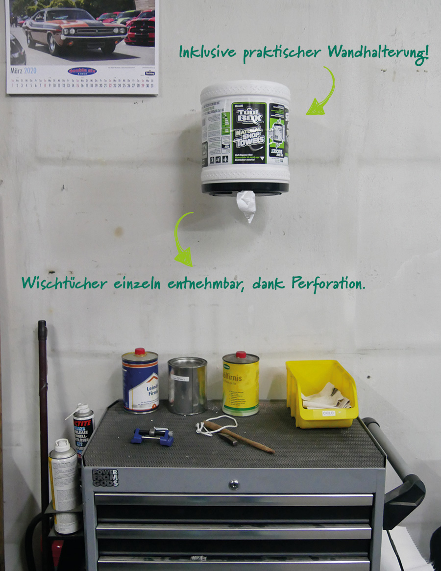 BigGrip Wischtuch Spender an der Wand